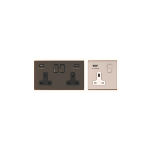 13 Amp Sockets with USB Outlet